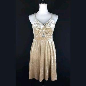 Xhilaration crushed velvet babydoll dress